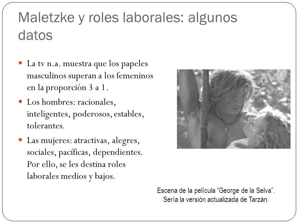 Maletzke y roles laborales: algunos datos
