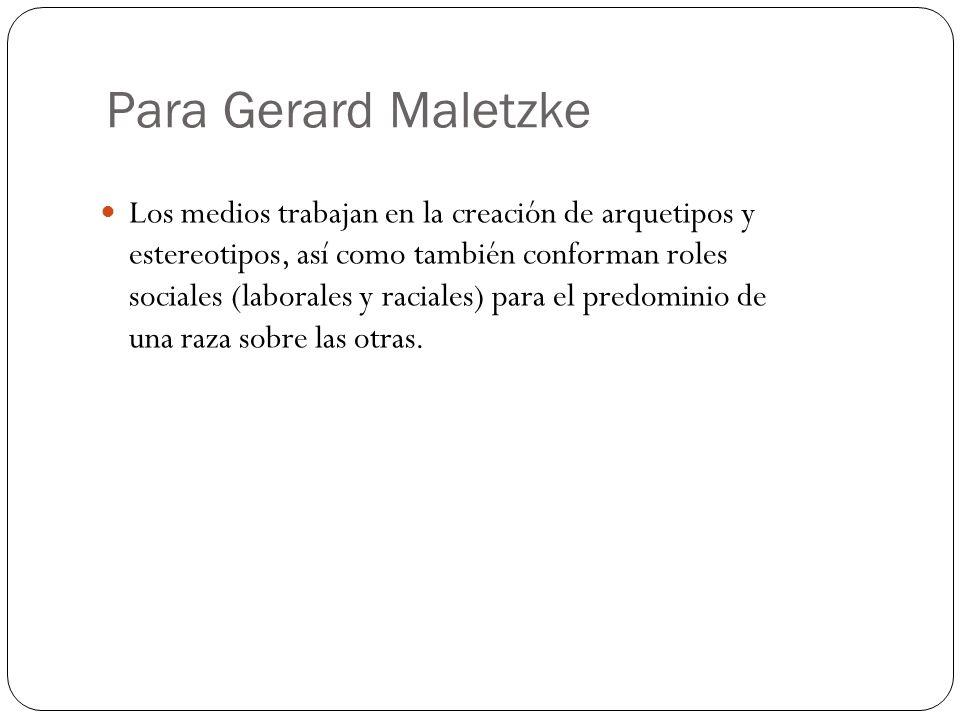 Para Gerard Maletzke