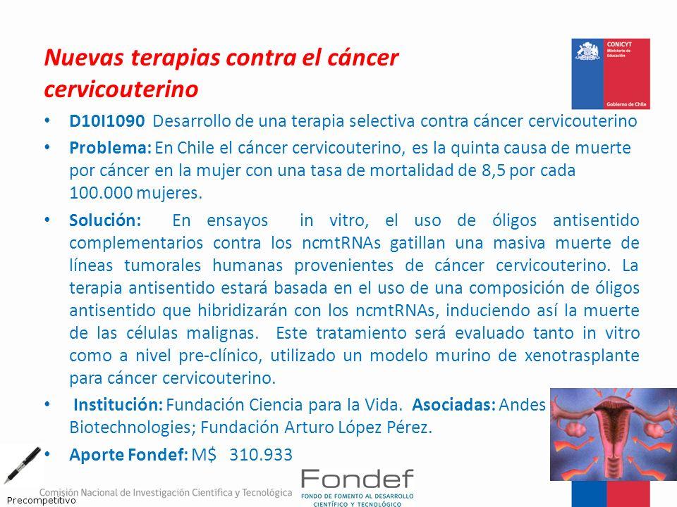 Nuevas terapias contra el cáncer cervicouterino