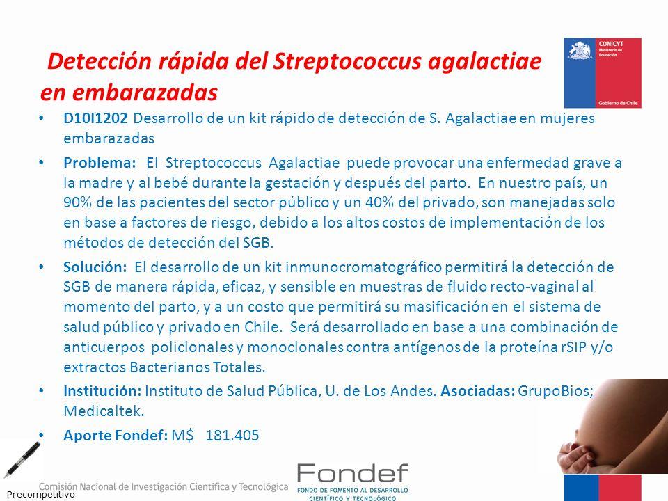 Detección rápida del Streptococcus agalactiae en embarazadas