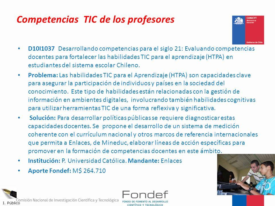 Competencias TIC de los profesores