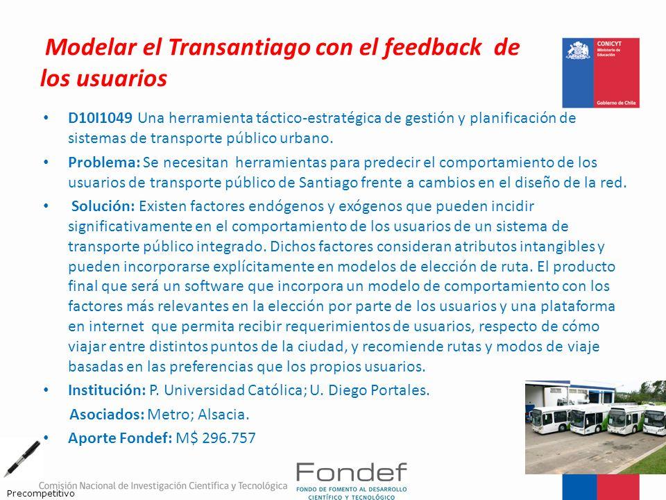 Modelar el Transantiago con el feedback de los usuarios