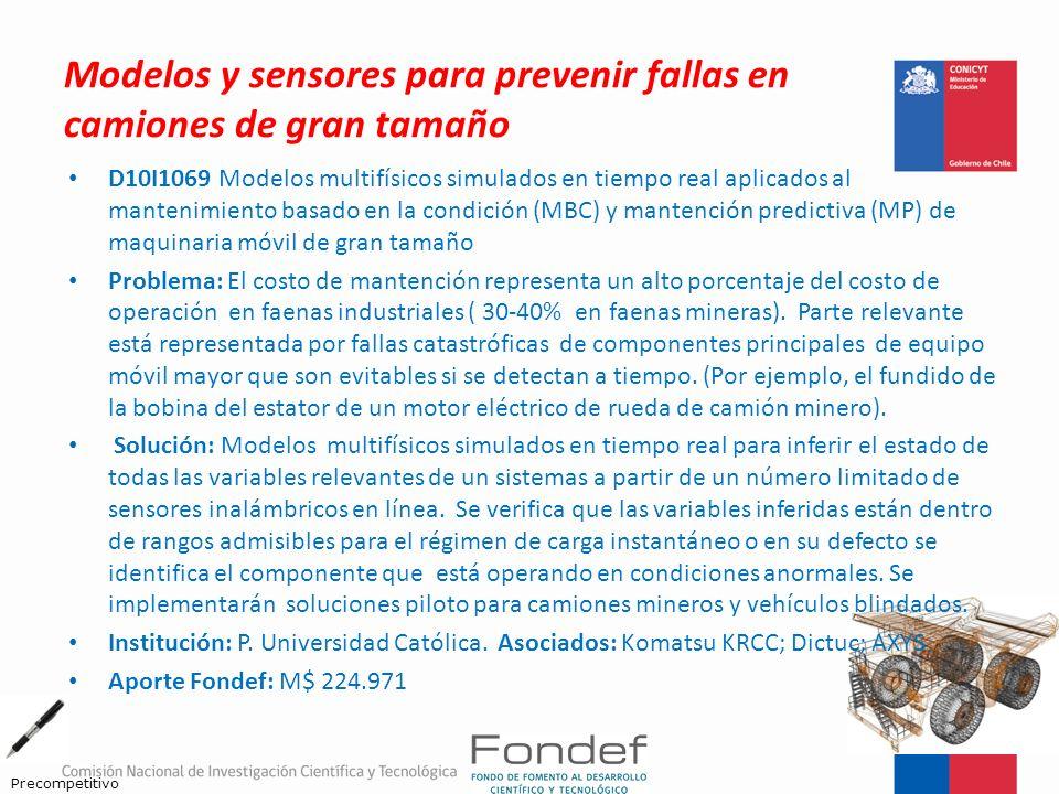 Modelos y sensores para prevenir fallas en camiones de gran tamaño