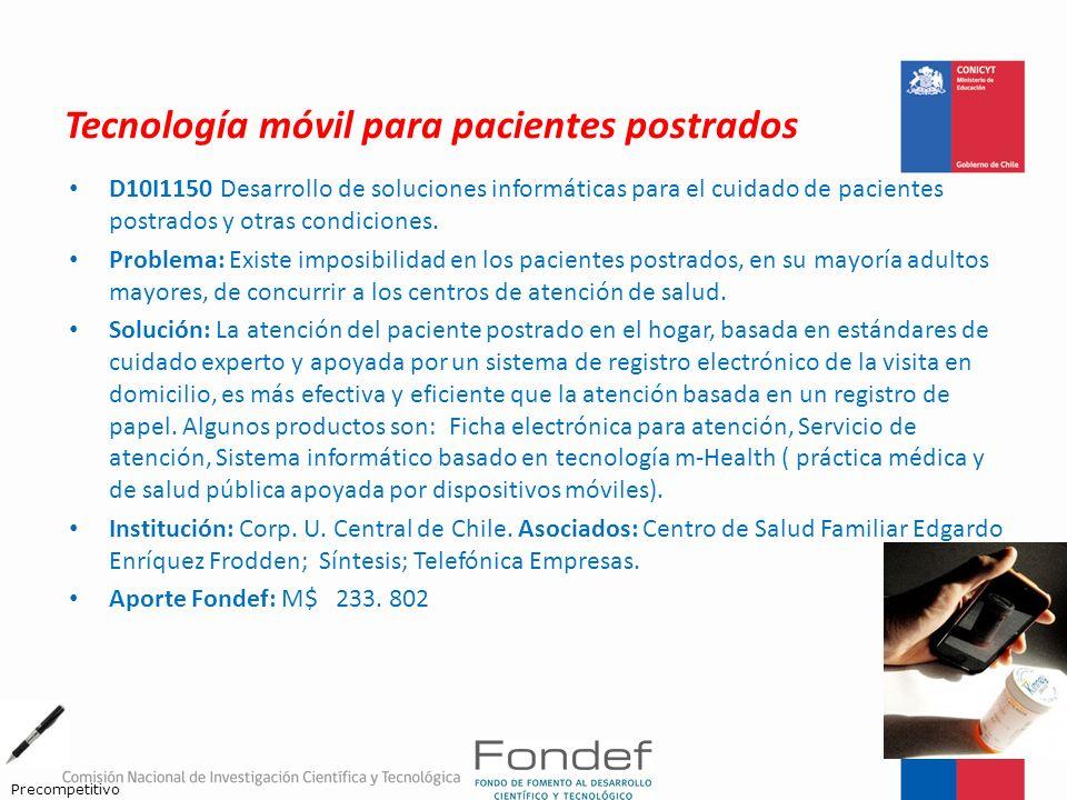 Tecnología móvil para pacientes postrados
