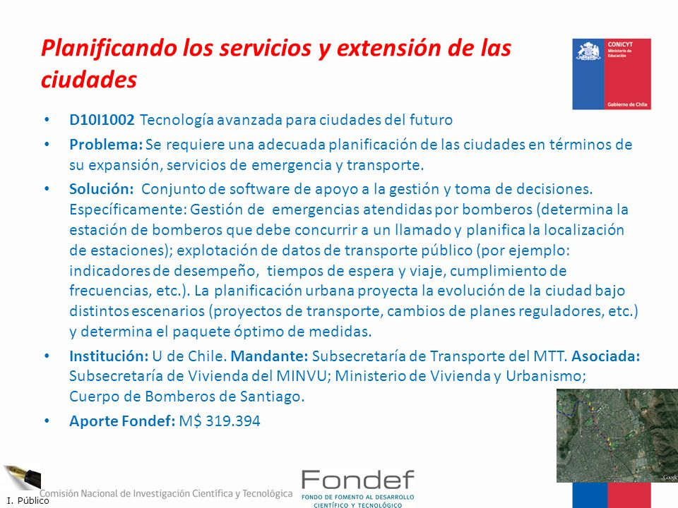 Planificando los servicios y extensión de las ciudades