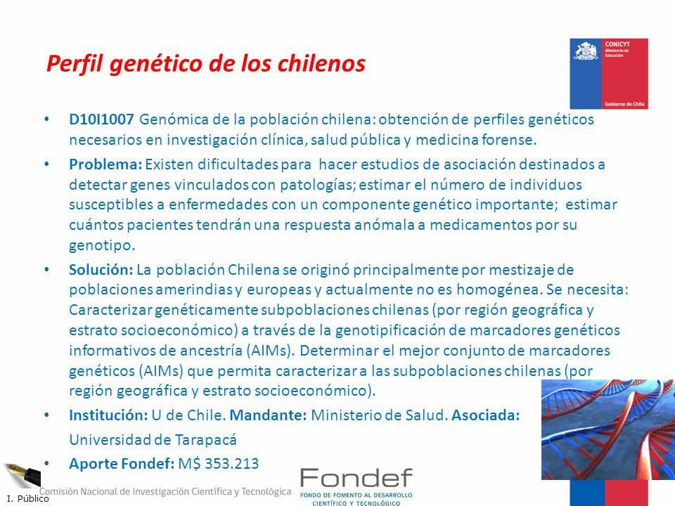 Perfil genético de los chilenos