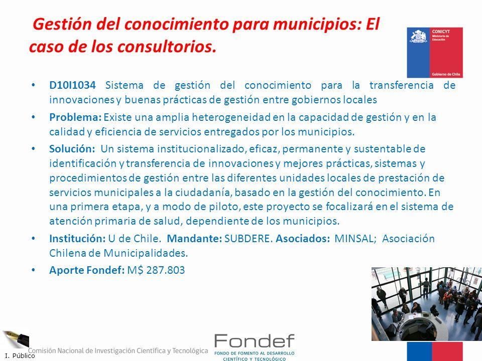 Gestión del conocimiento para municipios: El caso de los consultorios.