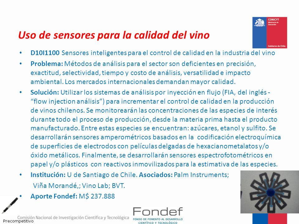 Uso de sensores para la calidad del vino