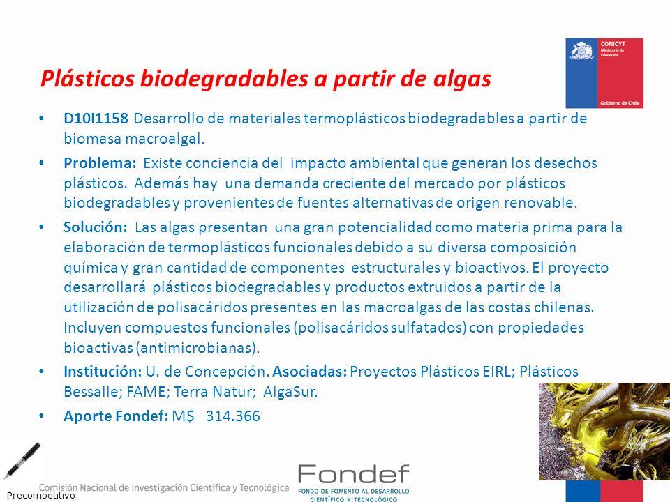 Plásticos biodegradables a partir de algas