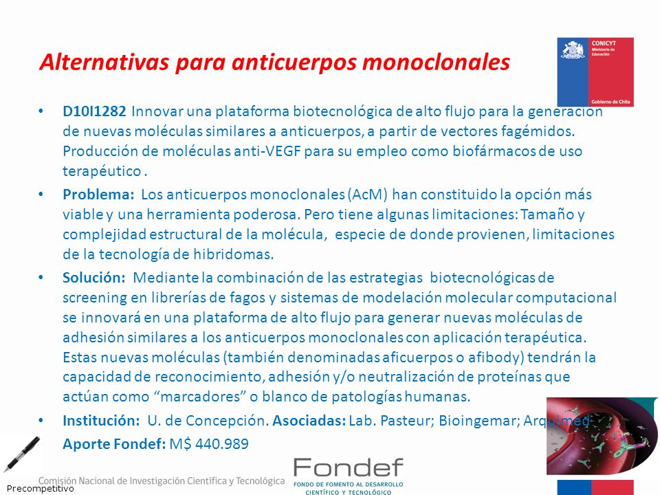 Alternativas para anticuerpos monoclonales