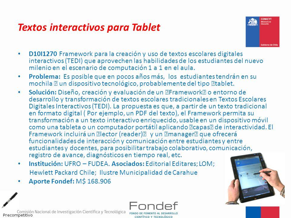 Textos interactivos para Tablet