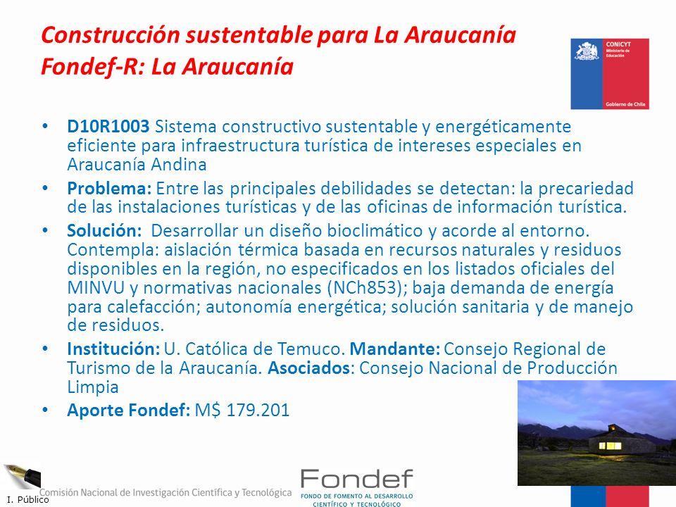 Construcción sustentable para La Araucanía Fondef-R: La Araucanía