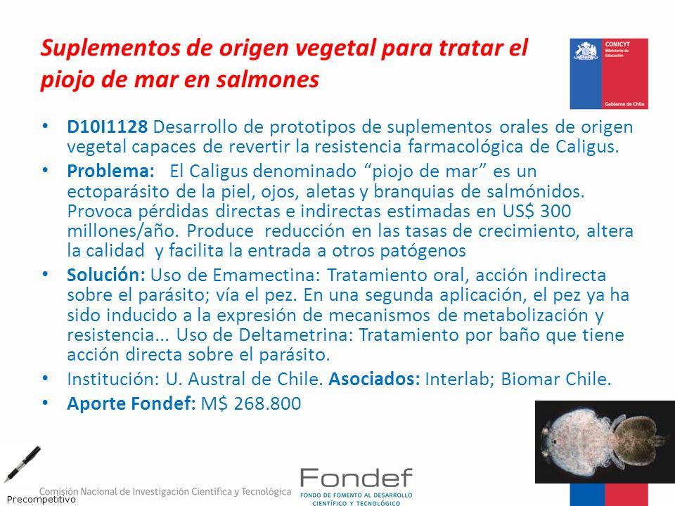 Suplementos de origen vegetal para tratar el piojo de mar en salmones