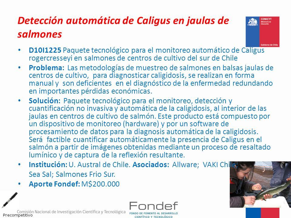 Detección automática de Caligus en jaulas de salmones