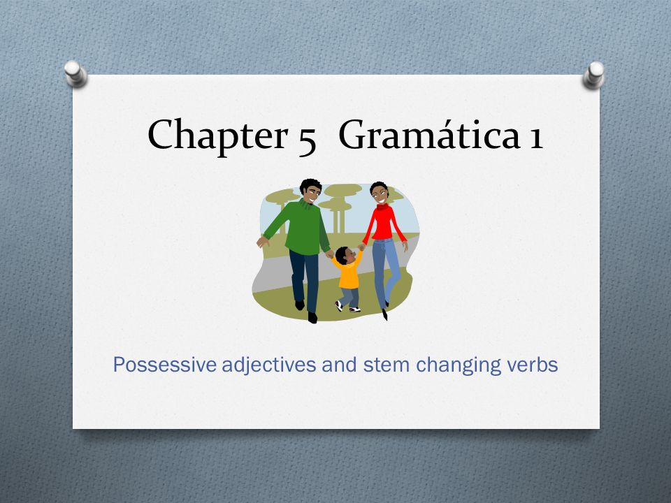 Possessive adjectives and stem changing verbs