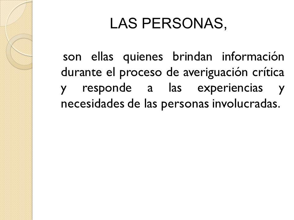 LAS PERSONAS,