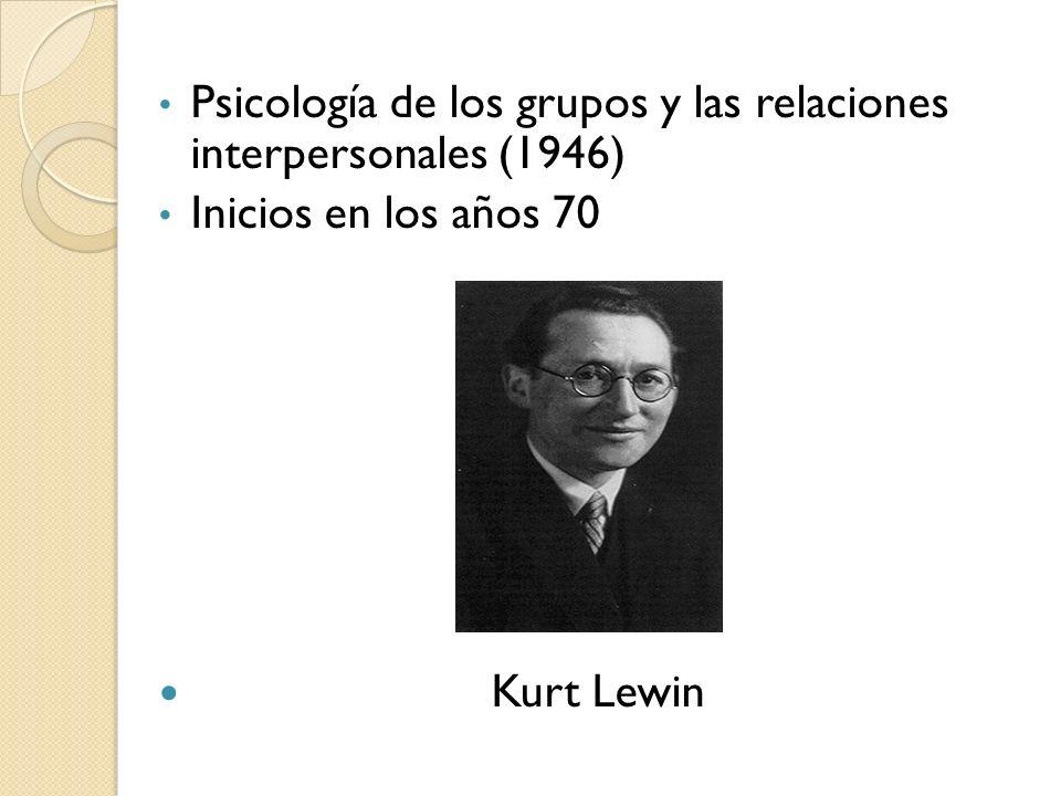 Psicología de los grupos y las relaciones interpersonales (1946)