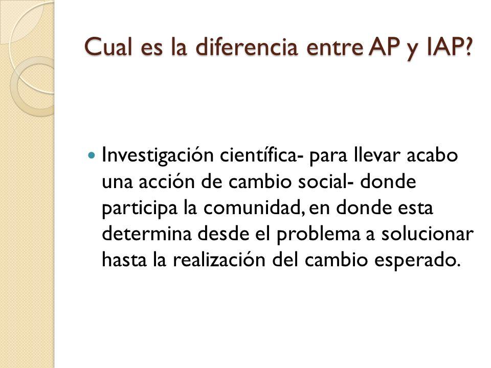 Cual es la diferencia entre AP y IAP