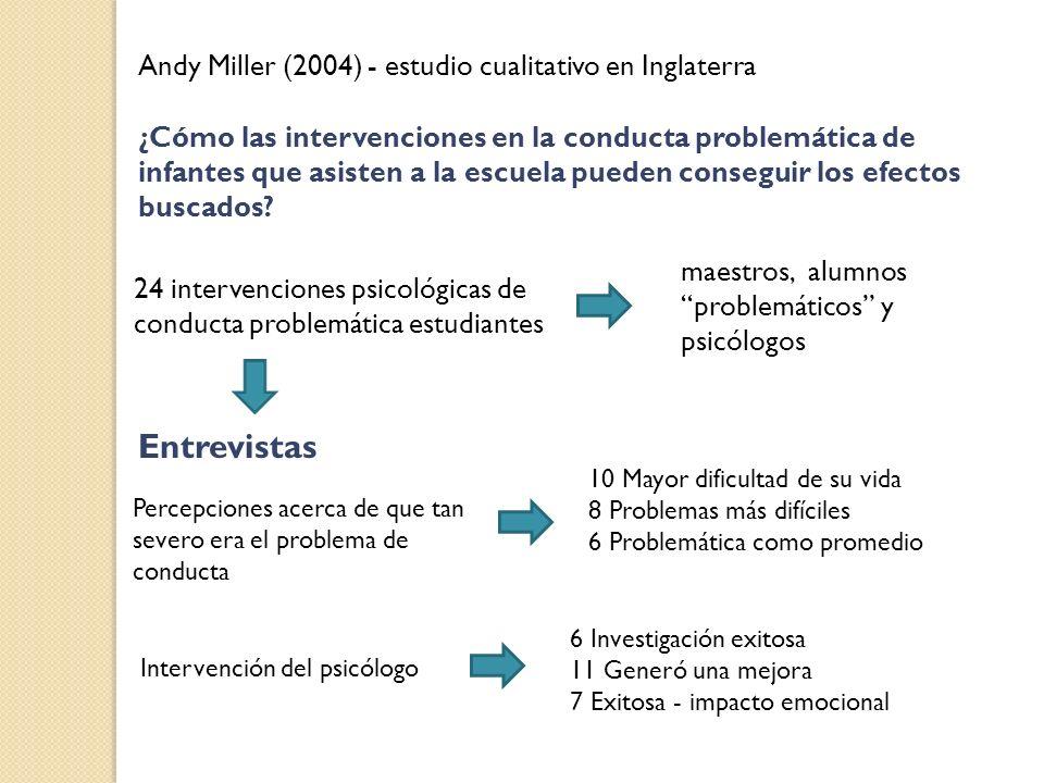Entrevistas Andy Miller (2004) - estudio cualitativo en Inglaterra