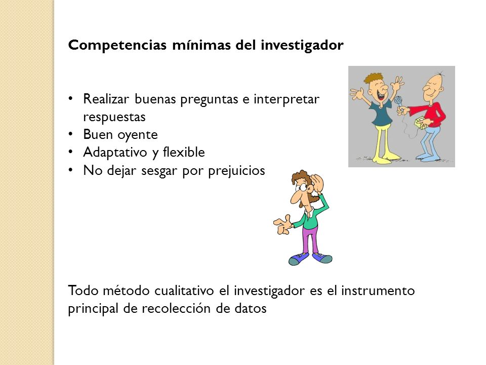 Competencias mínimas del investigador