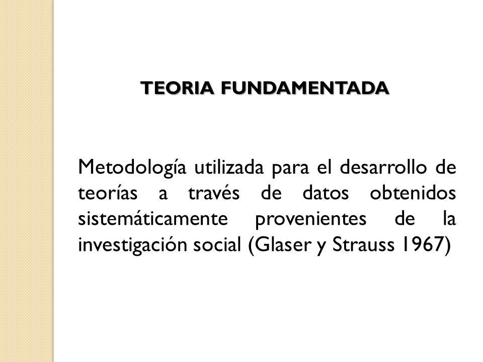 TEORIA FUNDAMENTADA