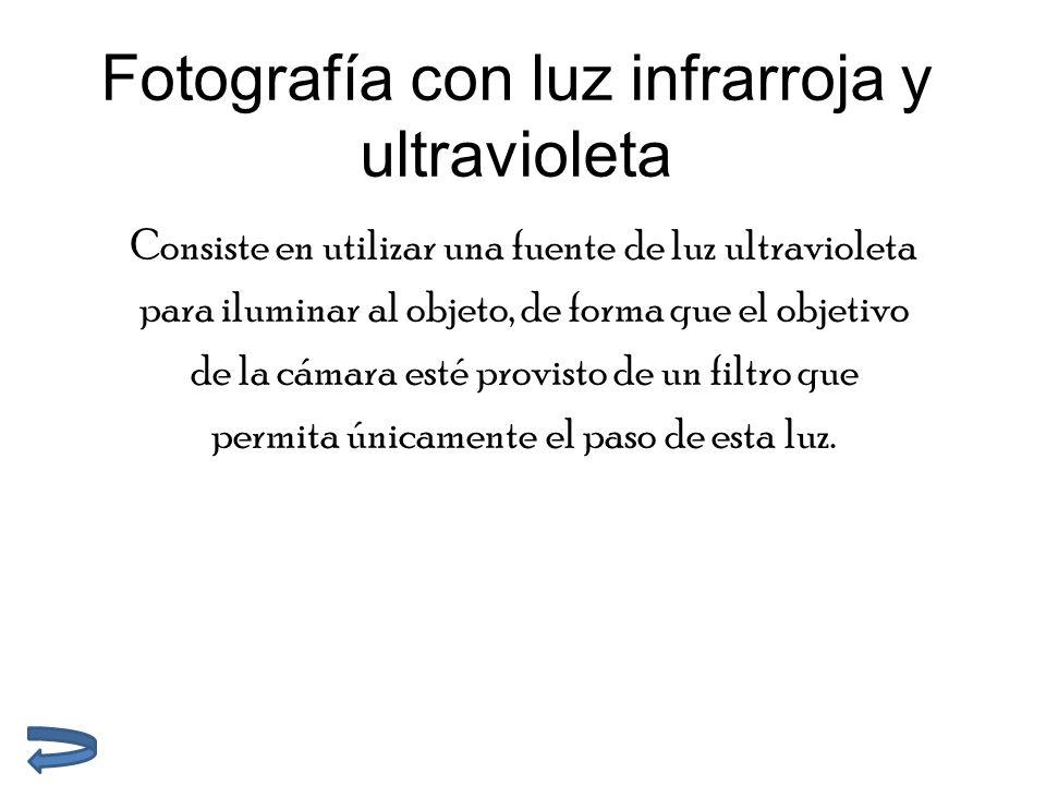 Fotografía con luz infrarroja y ultravioleta