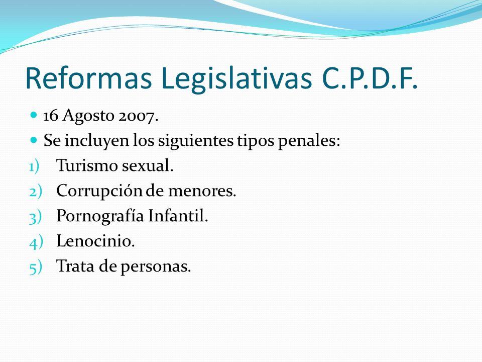 Reformas Legislativas C.P.D.F.