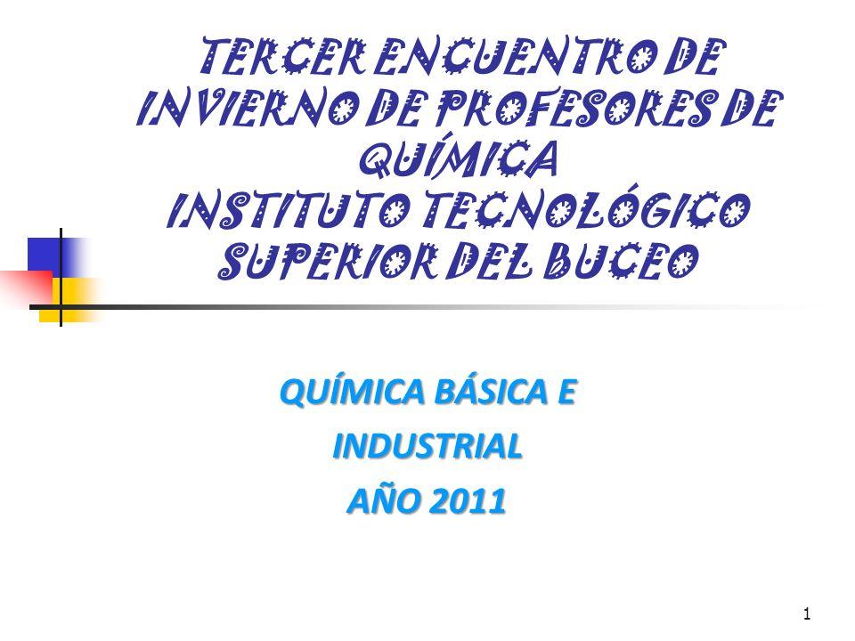 QUÍMICA BÁSICA E INDUSTRIAL AÑO 2011