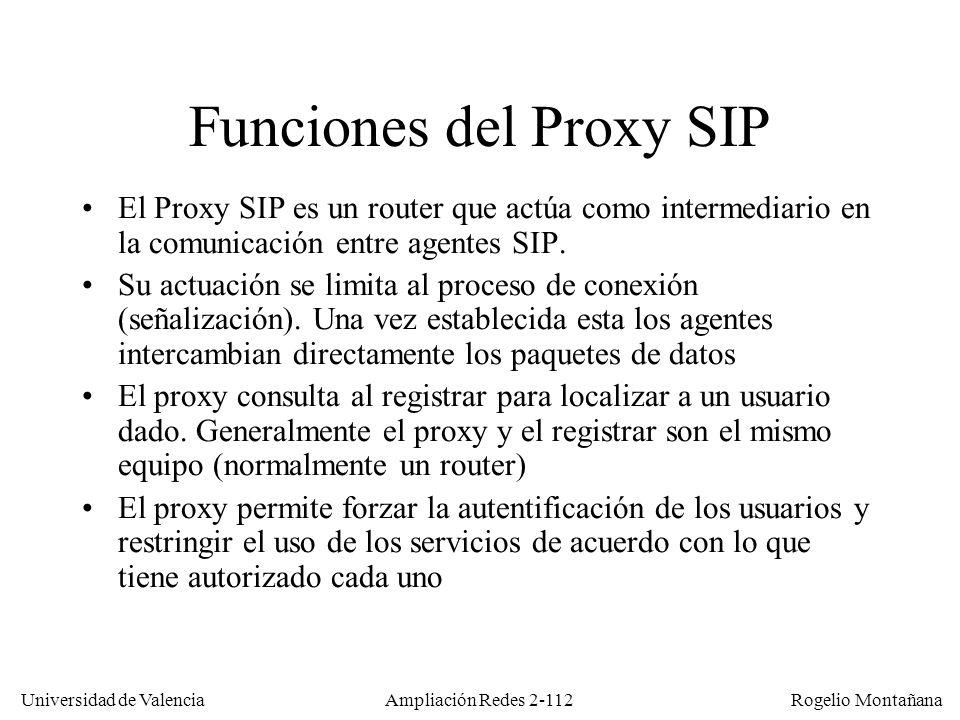 Funciones del Proxy SIP