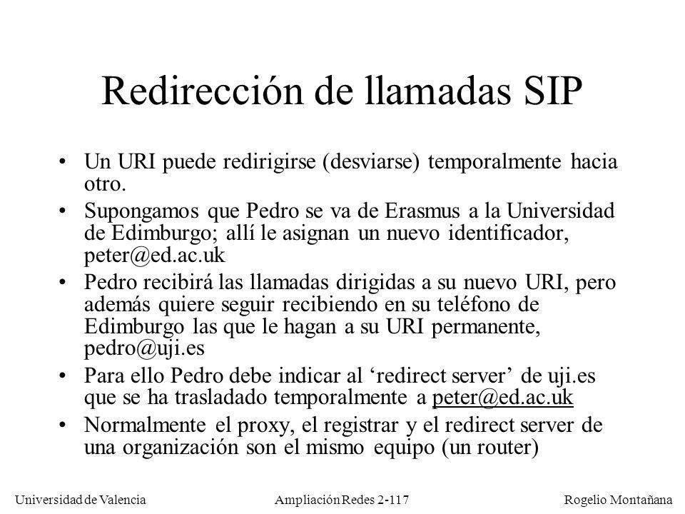Redirección de llamadas SIP