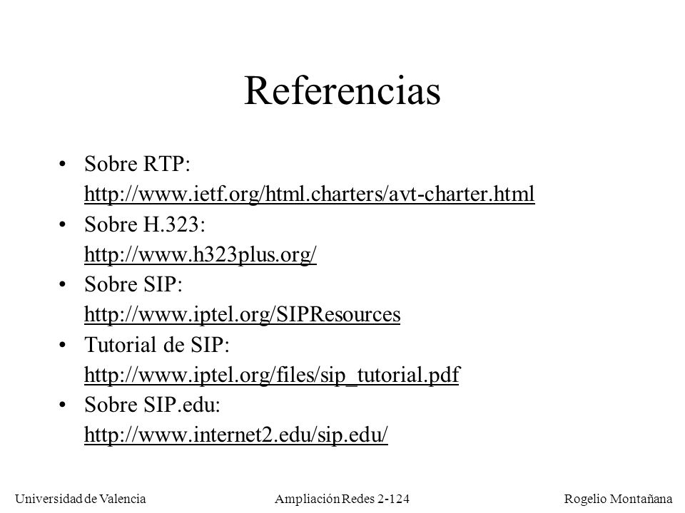 Referencias Sobre RTP: