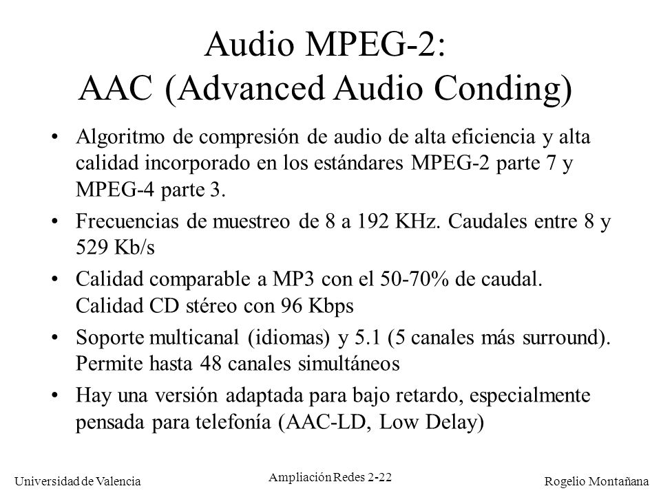 AAC (Advanced Audio Conding)