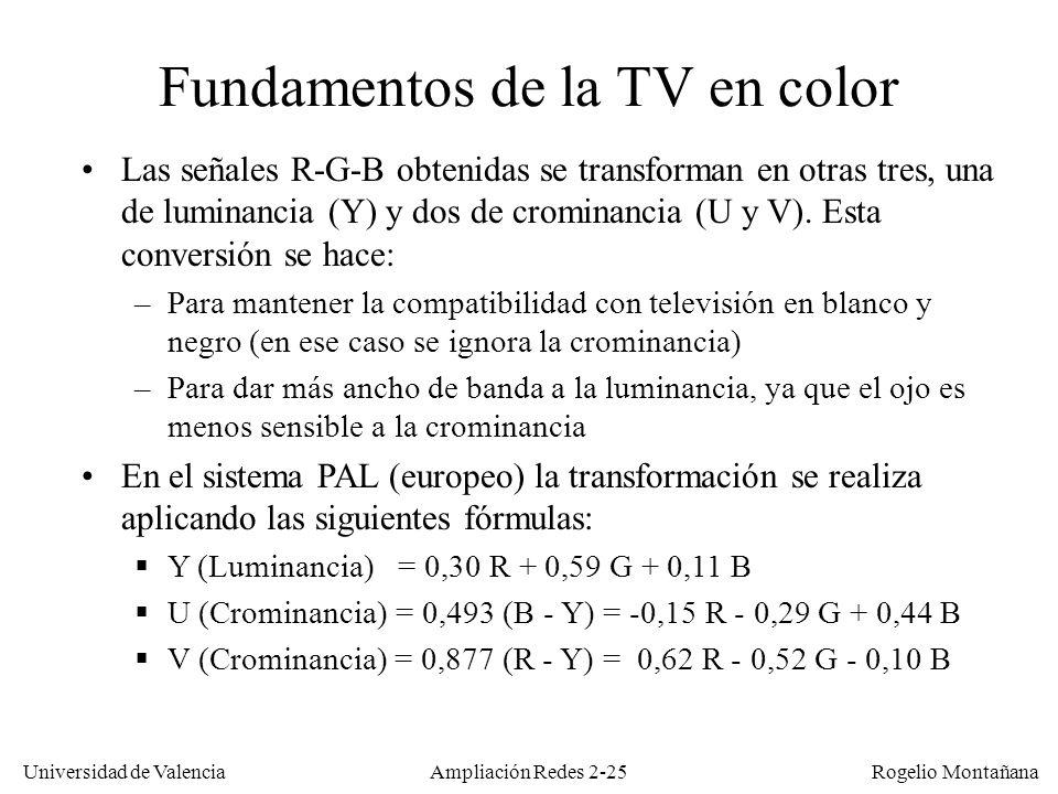 Fundamentos de la TV en color