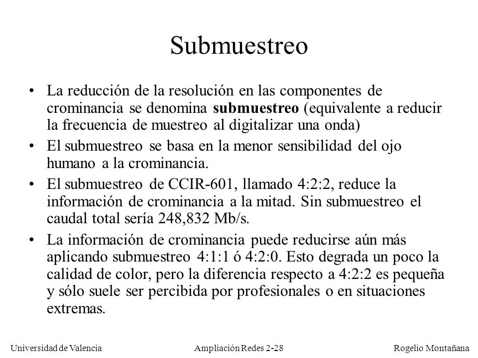 Redes Multimedia Submuestreo.