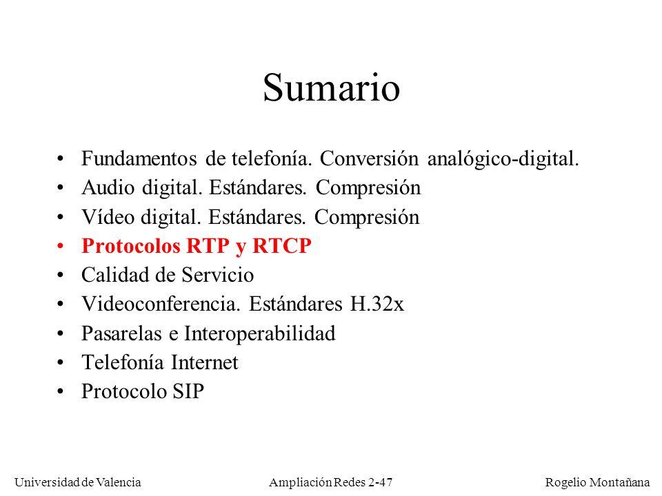 Sumario Fundamentos de telefonía. Conversión analógico-digital.