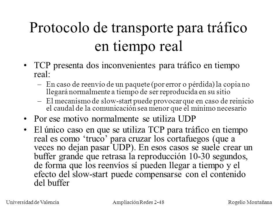 Protocolo de transporte para tráfico en tiempo real
