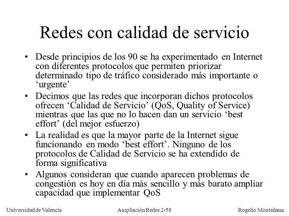Redes con calidad de servicio