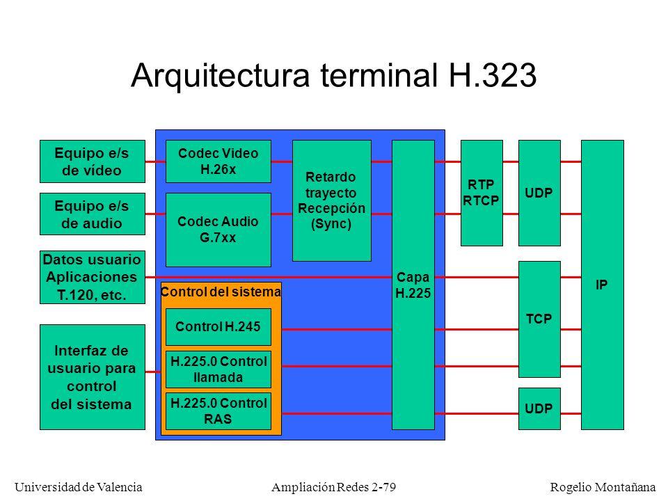 Arquitectura terminal H.323