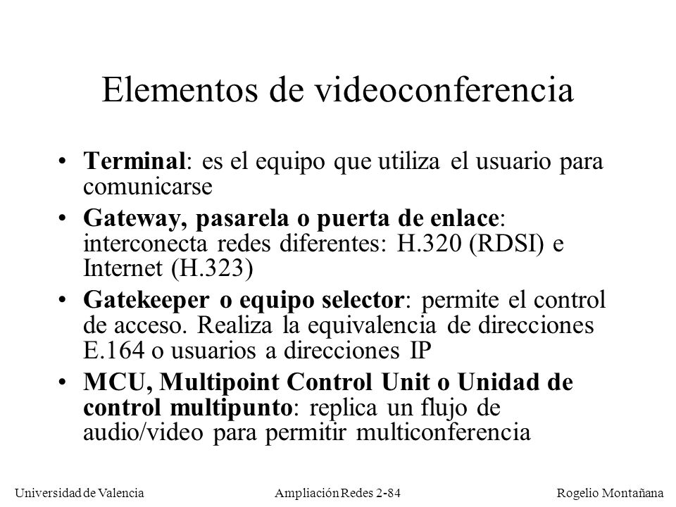 Elementos de videoconferencia