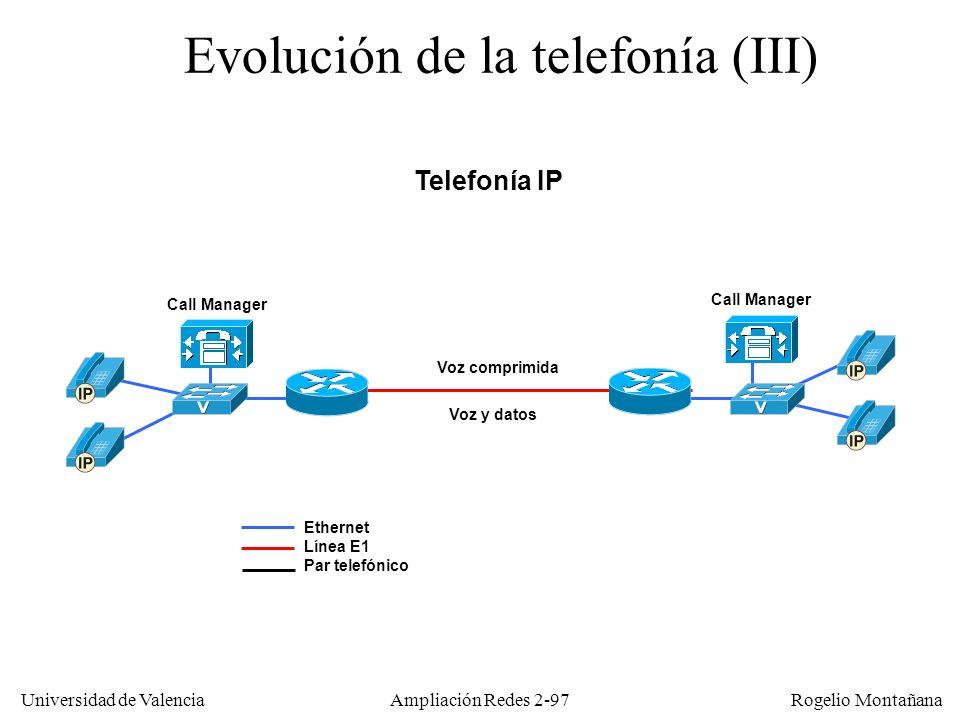 Evolución de la telefonía (III)