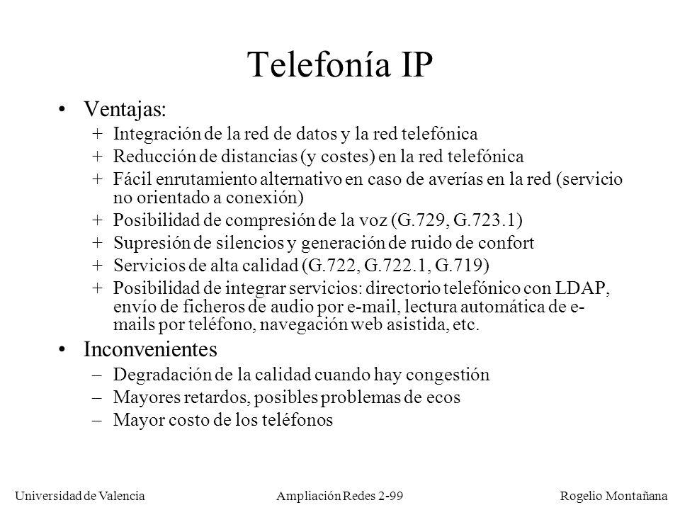 Telefonía IP Ventajas: Inconvenientes