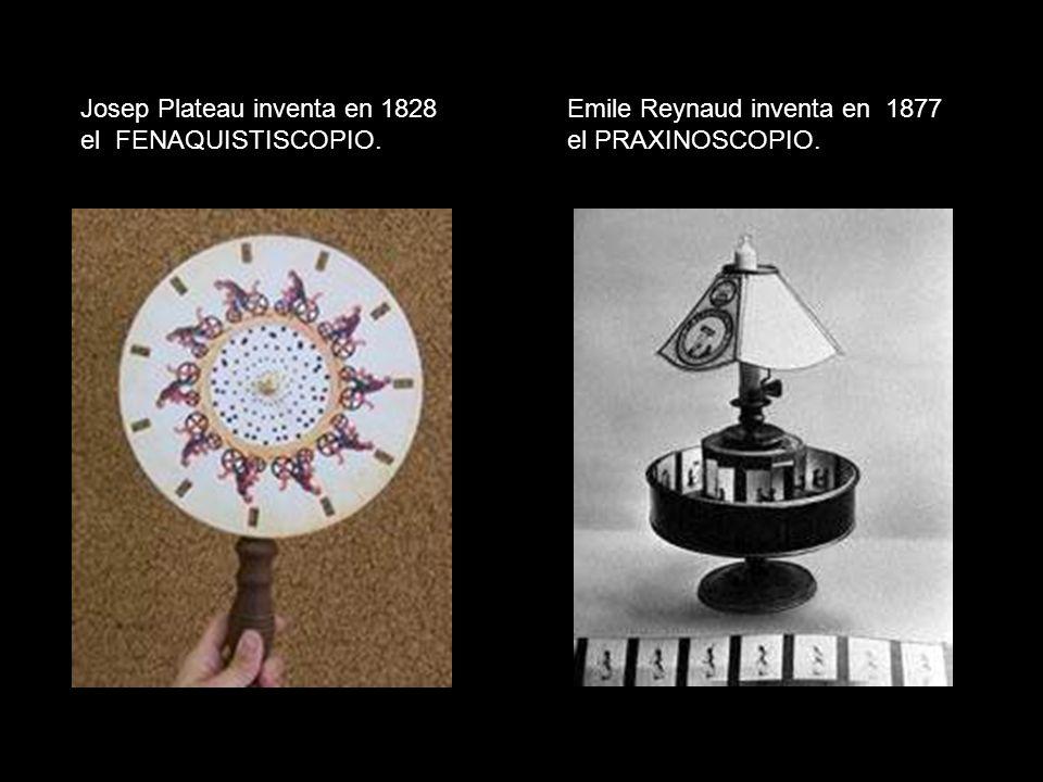 Josep Plateau inventa en 1828 el FENAQUISTISCOPIO.
