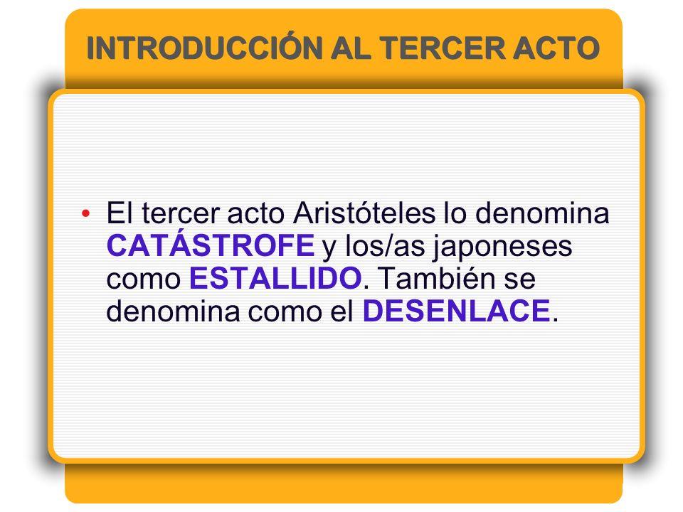 INTRODUCCIÓN AL TERCER ACTO