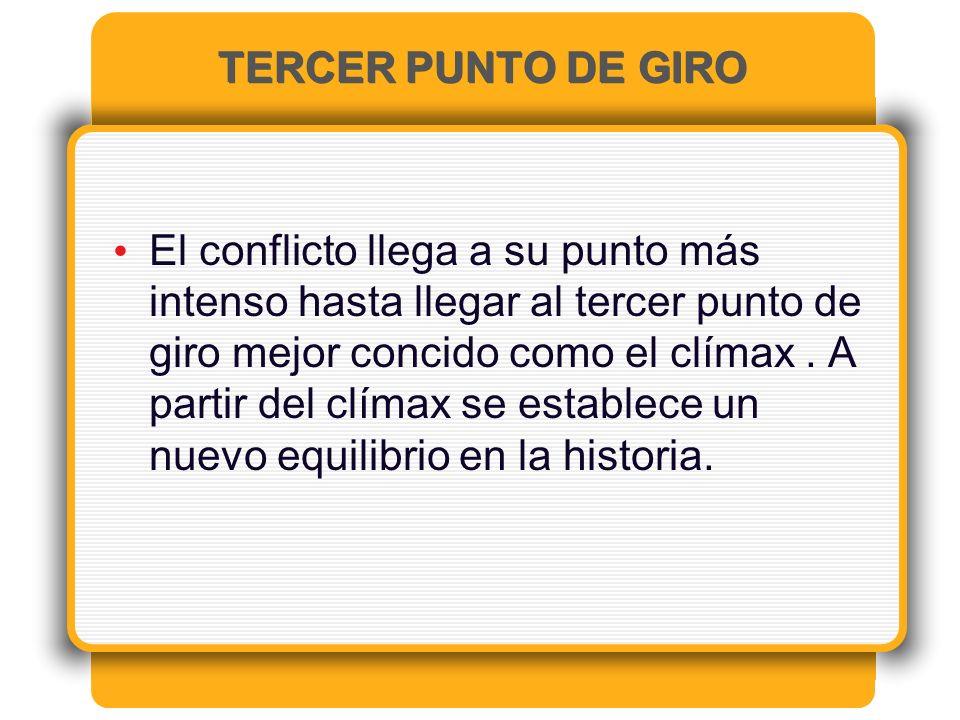 TERCER PUNTO DE GIRO