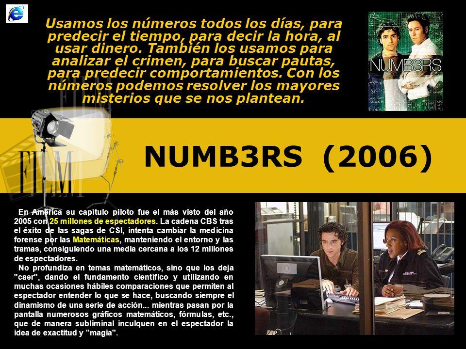 Usamos los números todos los días, para predecir el tiempo, para decir la hora, al usar dinero. También los usamos para analizar el crimen, para buscar pautas, para predecir comportamientos. Con los números podemos resolver los mayores misterios que se nos plantean.