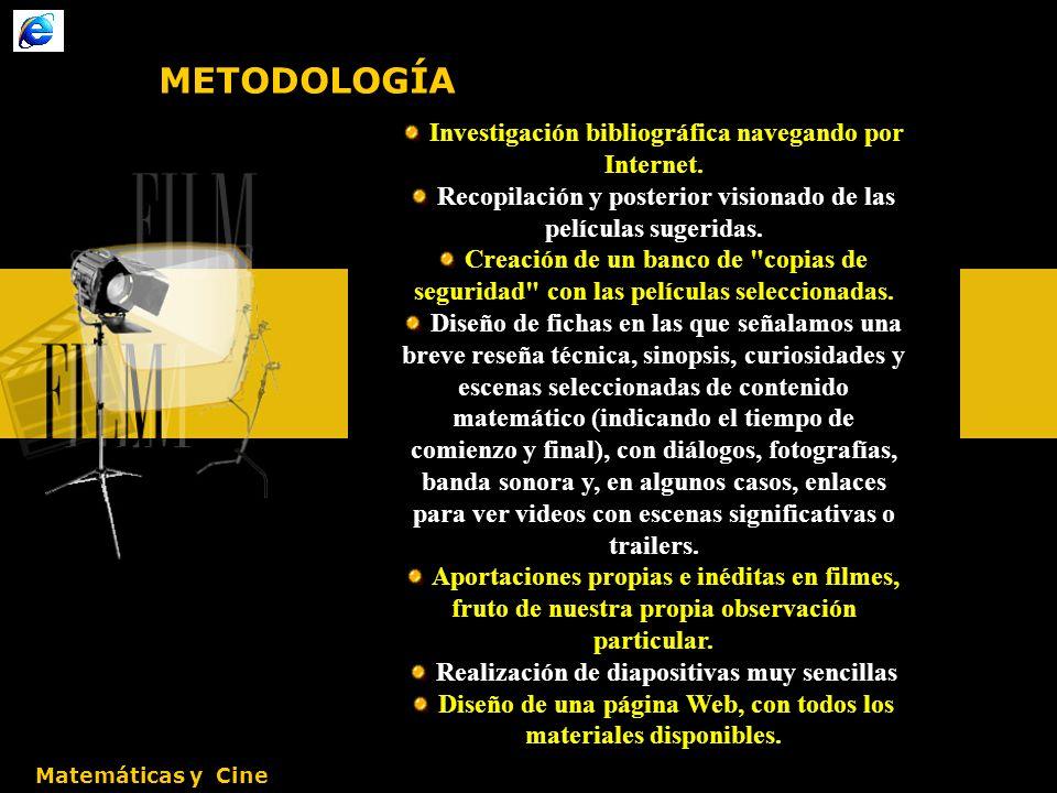 METODOLOGÍA Investigación bibliográfica navegando por Internet.