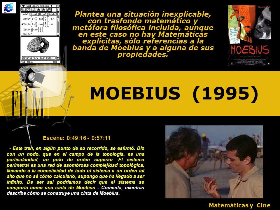 Plantea una situación inexplicable, con trasfondo matemático y metáfora filosófica incluida, aunque en este caso no hay Matemáticas explícitas, sólo referencias a la banda de Moebius y a alguna de sus propiedades.