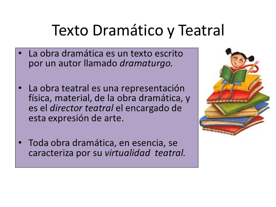 Texto Dramático y Teatral
