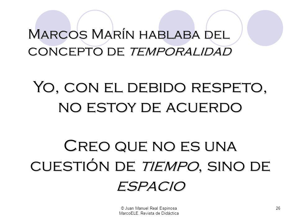 Marcos Marín hablaba del concepto de temporalidad