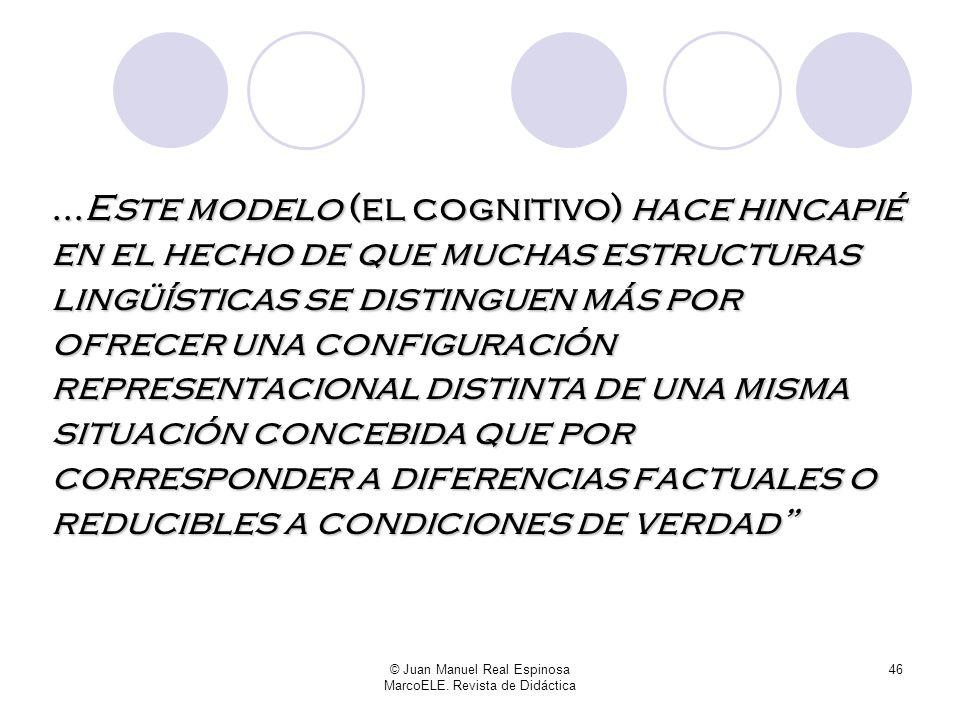© Juan Manuel Real Espinosa MarcoELE. Revista de Didáctica